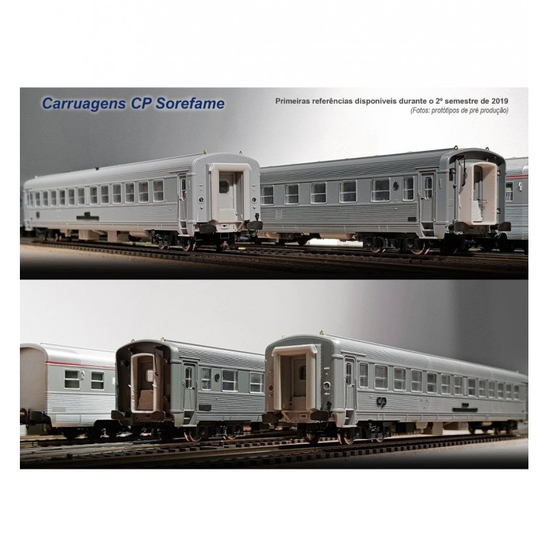Set de 3 carruagens inox CP Sorefame ref. S0419