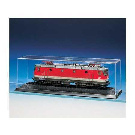 Caixa expositor para locomotivas e carruagens