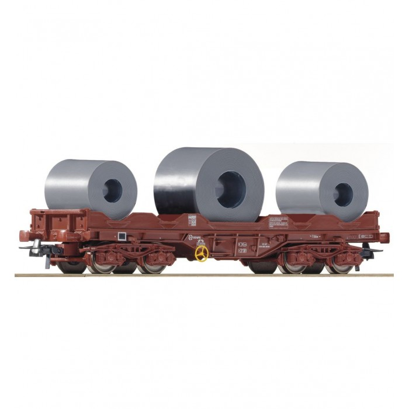 Vagão de transporte de bobines de aço