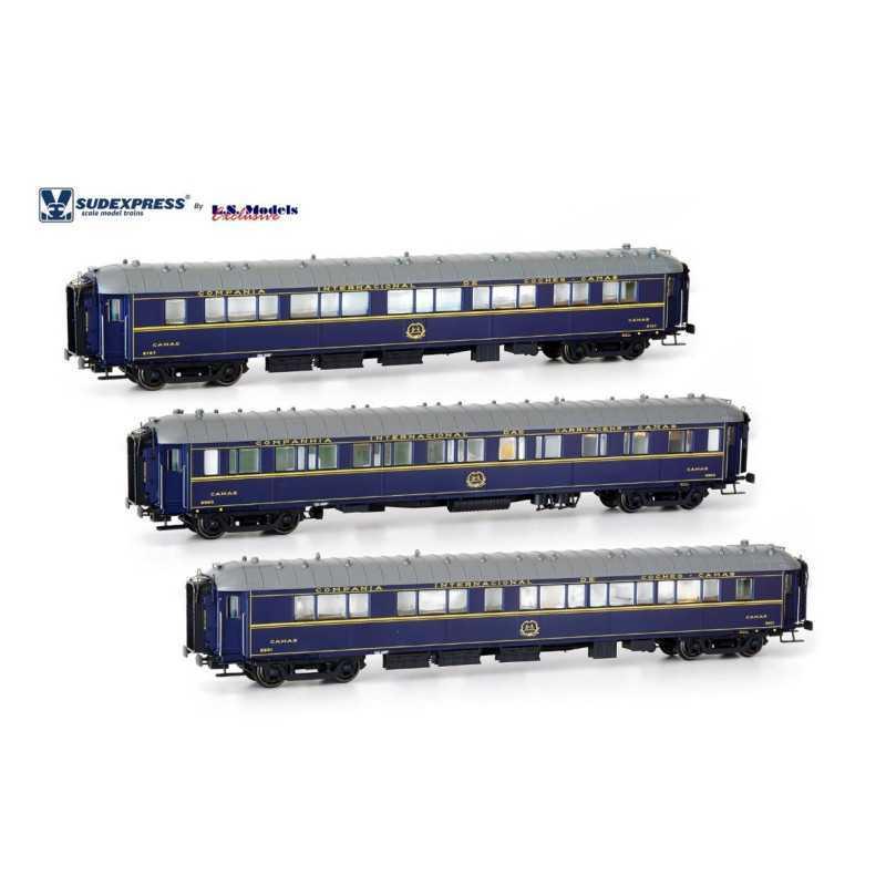 Set de 3 carruagens camas CIWL tipo S