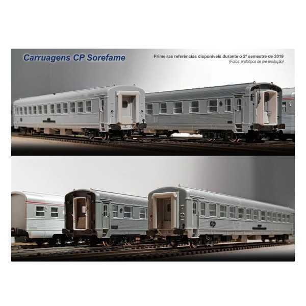 Set de 3 carruagens inox CP Sorefame ref. S1019