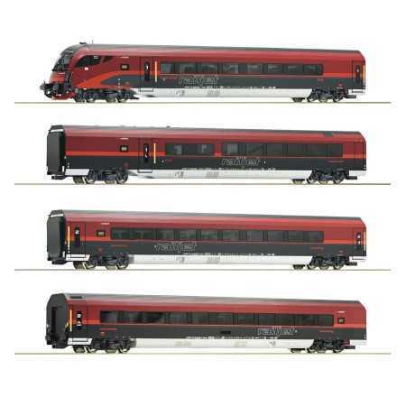 "Conjunto de 4 peças: ""Railjet"", ÖBB"