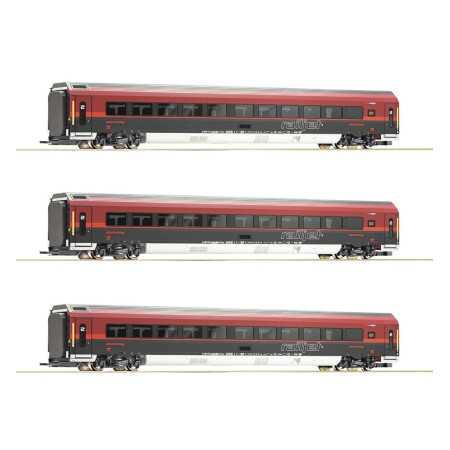 "Conjunto de 3 peças: ""Railjet"", ÖBB"
