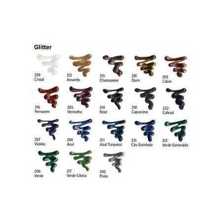 Tinta 3D Relevo Glitter Acrillex